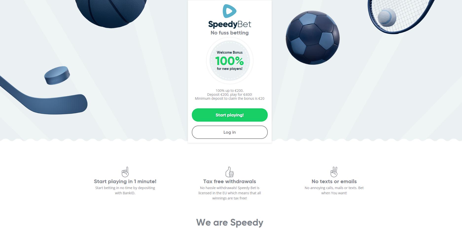 speedybet banner sport
